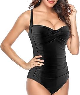 f2059173a3ce MAX Vintage Costume da Bagno Intero Donna con Push-up Imbottitura per Donne