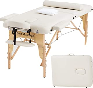 Portable Massage Table Massage Bed SPA Bed 2 Folding 73 Inch Long 28 Inch Wide PU..