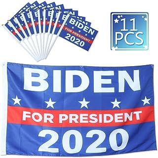 AiParty Joe Biden for President 2020 Flag Kit,Biden Yard Sign,3X5Ft Biden Harris 2020 Banner Flag and 10 Handheld Stick Flags