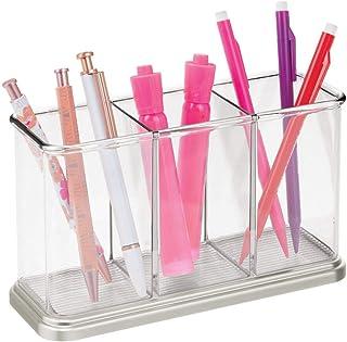 mDesign pot à crayons pratique pour articles de papeterie – rangement déco pour fournitures de bureau – rangement papeteri...