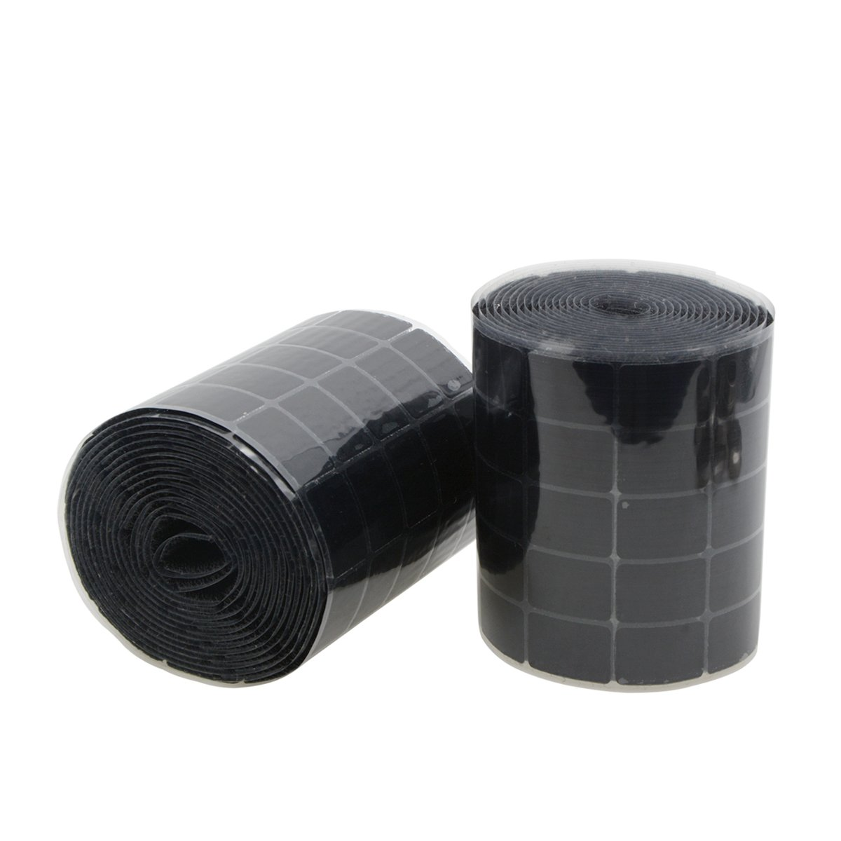 Saim 1000 PCS (500 Pairs) 19 x 28mm Sticky Back Coins Hook Loop Self Adhesive Dots Tapes Square Shape Black