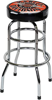 HARLEY-DAVIDSON Winged Bar & Shield Bar Stool Chrome Plated HDL-12135