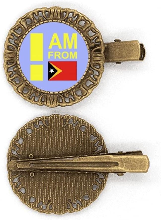Broche de pelo con diseño de I Am From Timor Leste