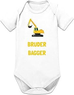 Shirtcity Tausche Bruder gegen Bagger Baby Strampler by