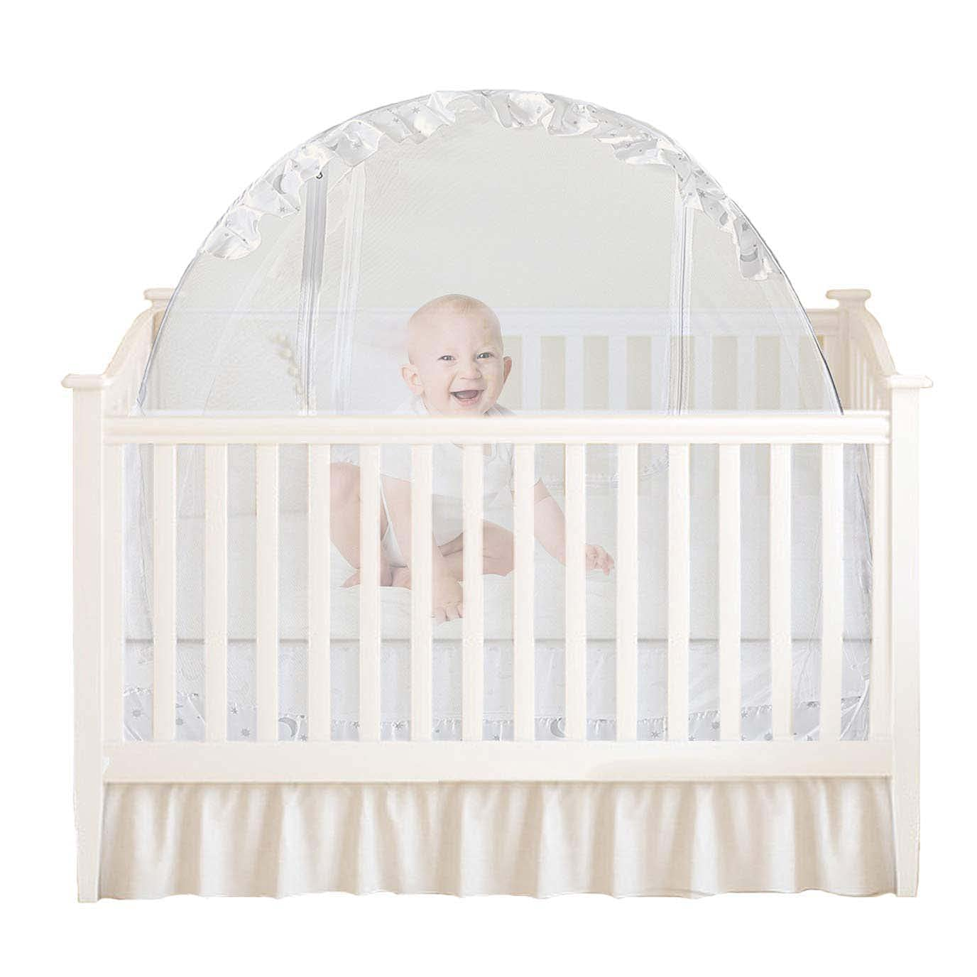 Houseables Baby Tent, Mosquito Net for Bed, White, 48