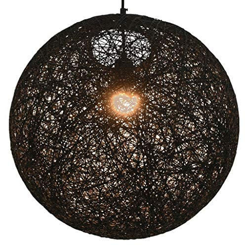 vidaXL Hanglamp Rond 45 cm Zwart Plafondlamp Verlichting Lamp Hanglicht Licht