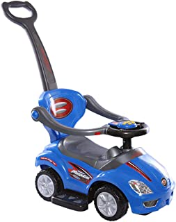 3 In 1 Indoor Outdoor Push Car Toddler Ride On Wagon Play Toy Stroller Blue CRPL 620