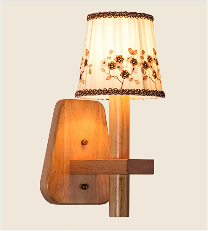 JU FU -Lichtbefestigung Nordic Modern Holz Schlafzimmer Nachttischlampe Wohnzimmer Esszimmer Beleuchtung @