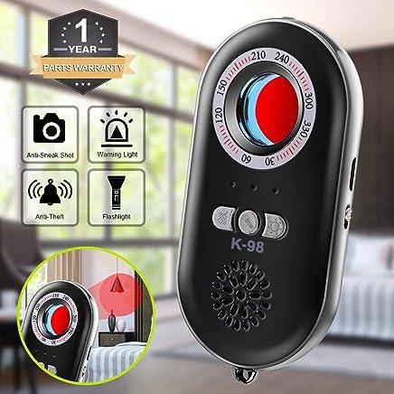 CaGuan Anti-Spy Hidden Camera Detector Infrared Portable Safesound Personal Alarm 3-in-