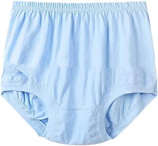 Howely Men High Waist Plus-Size Soft Solid Basic Cotton Comfy Briefs