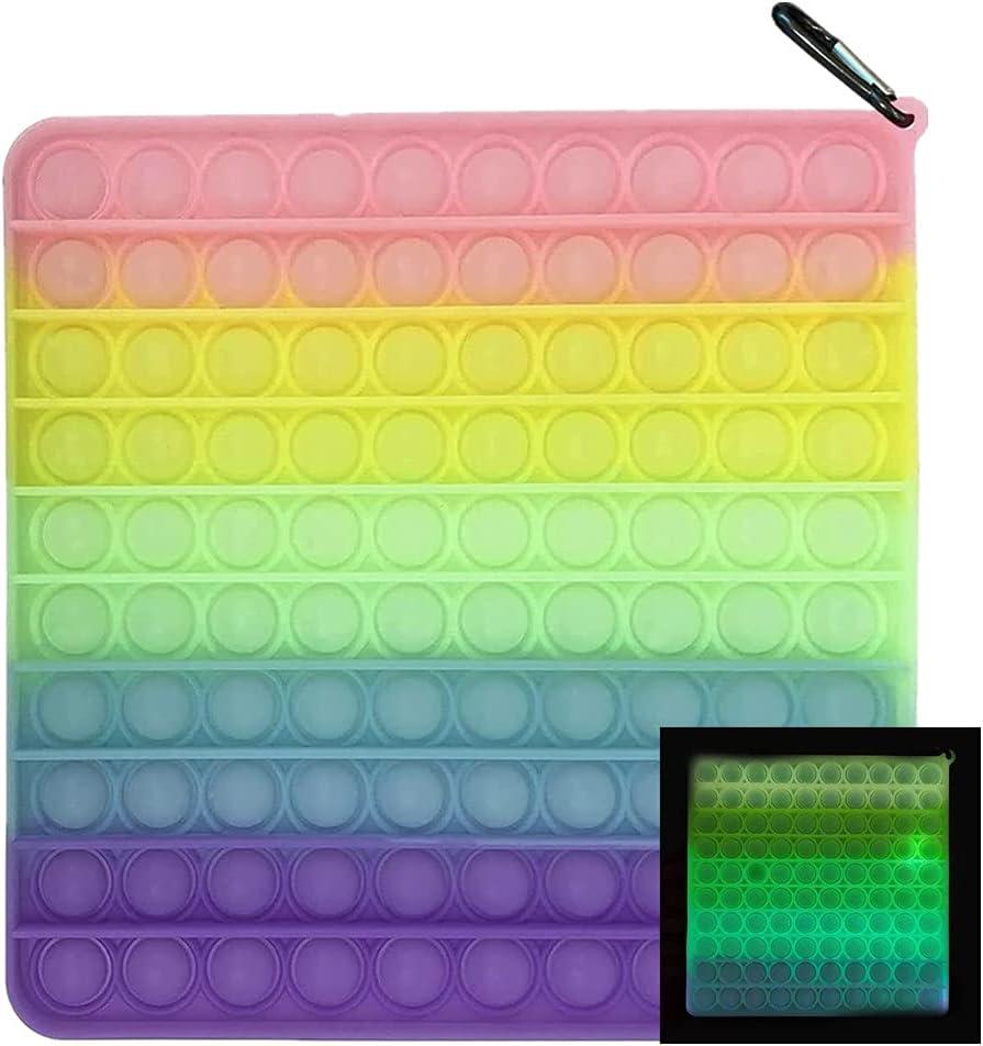 Big Size Push Fidget Toy 200mm Bubbles 100 Sen Rare Stress Relieving New color
