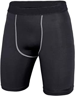 LANBAOSI Mens Running Quick Dry Compression Shorts Tight Sports Short Pants Black Leggings