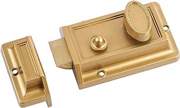 Slot Zink cilinder deadbolt grendel slot voor nacht poort deur ingang, gouden afwerking Strong (Color : Yellow)