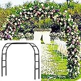 Metal Garden Arbor Wedding Arch 76.8 Inch H x 90.5 Inch W \94.5 Inch H x 55 Inch...
