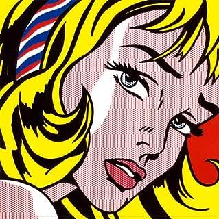 Girl with Hair Ribbon, c.1965 Art Poster Print by Roy Lichtenstein, 12x12