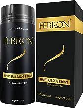 FEBRON Hair Building Fibers - Hair Loss Concealer For Thinning Hair - Giant 30gm Hair Powder Volumizing Based (Dark Brown)