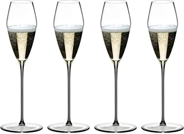 Riedel 1423/28 MAX Collection Classic Crystal Champagne Drinking Glass Set with Tall Extended Stem, 11.3 Ounce Capacity, (4 P