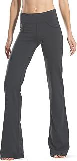 Safort 71 cm / 76 cm / 81 cm / 86 cm Entrepierna Pantalones de Yoga con Corte de Bota Alto Regular, 4 Bolsillos, UPF50 +