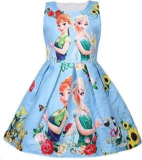 Princess Elsa Role Play Costume Party Dress Little Girls Anna Cosplay Dress up