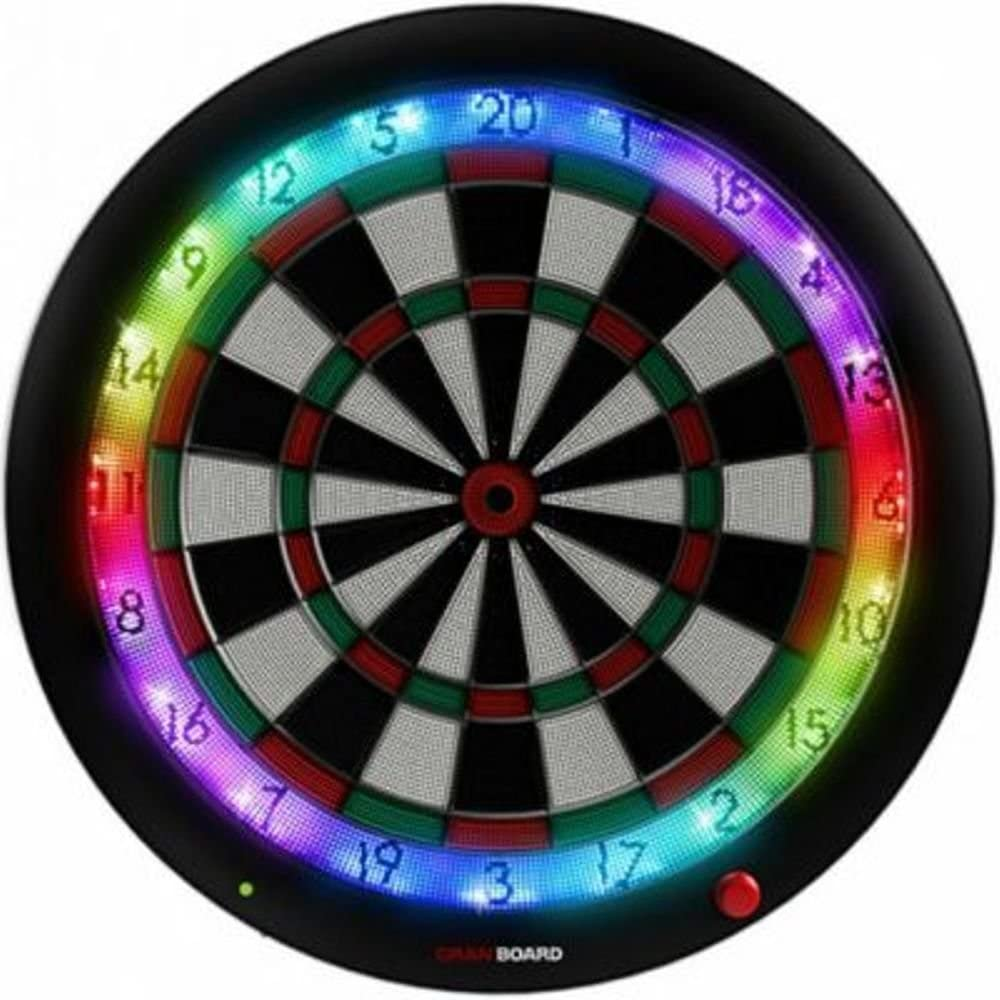 GRAN BOARD 3s LED Bluetooth Dartboard Green with Special Bracket