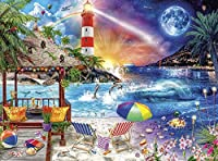 XiuTaiLtd Life a Beach-1000ピースパズル、75x50cm、友人へのホリデーギフト