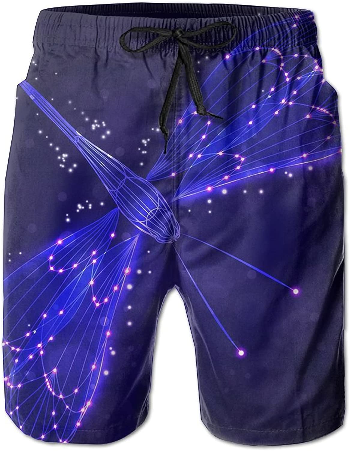 9b705dc7c8 Tydo Quick Dry Beach Shorts blueee Dragonfly Painting Surfing Trunks Trunks  Trunks Surf Board Pants With Pockets For Men d146a0