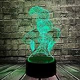 Lámpara de noche Spiderman para niños, diseño de Avenger, lámpara LED 3D, sensor de movimiento,...