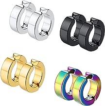 Punk Style Stainless Steel Spike Hoop Earrings Stud Earrings For Men Women Jewelry