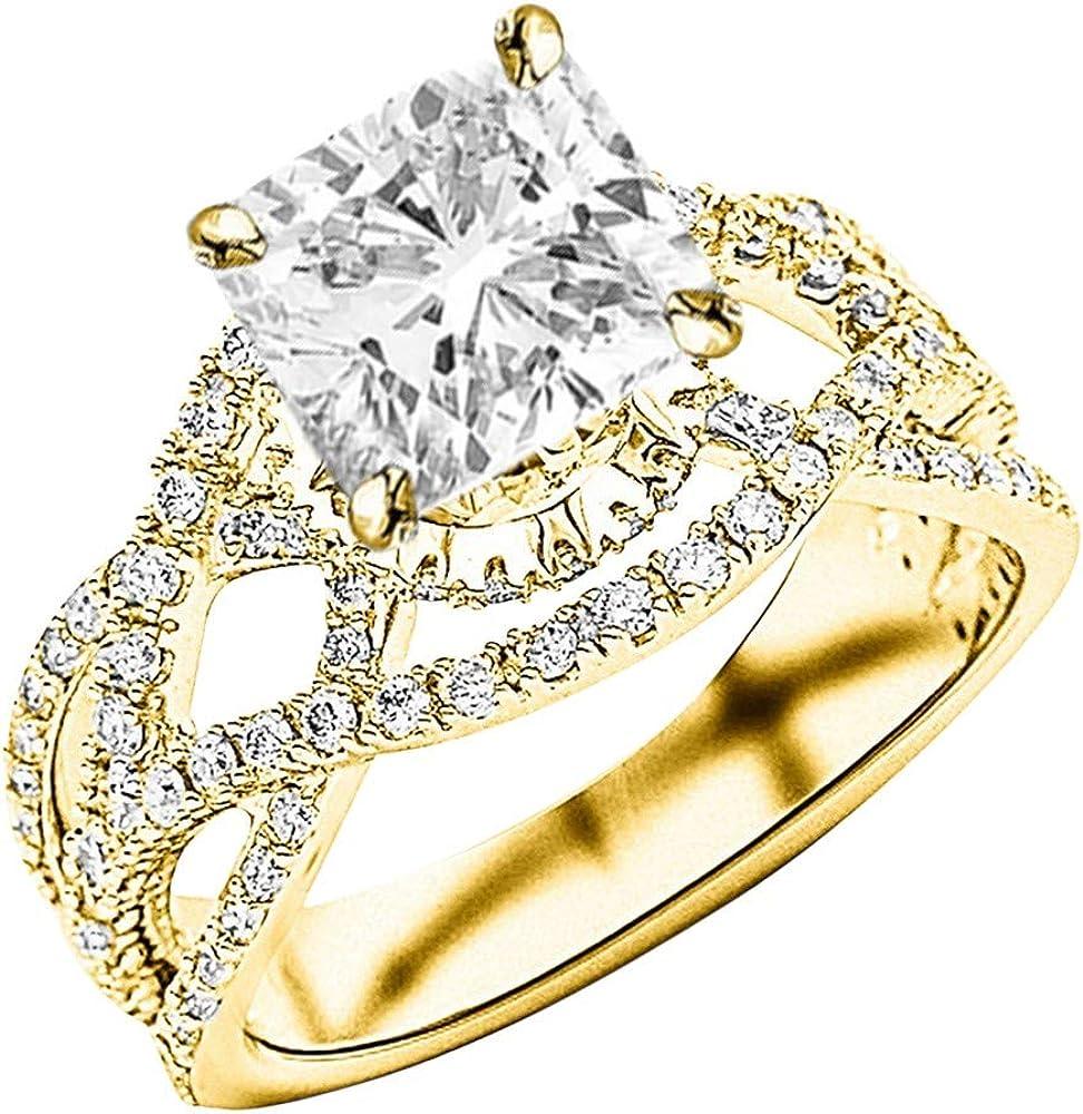 2.25 Ctw low-pricing 14K White Gold Love Intertwine Eternity Split Twisting Denver Mall
