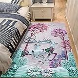 Cojines Pelo Verde Dormitorio Juvenil Elk Pattern, Moderno, Minimalista, Ligero, de Lujo, para Sala de Estar, Alfombra, alfombras para el Piso del Dormitorio, se Pueden Lavar y Personalizar alfombras