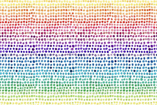 Altoona Design Childrens Collection Color Pops Paper Placemats 24/Pack Rectangle 12.5' x 18.5'