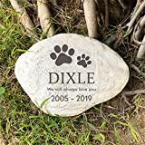 jinhuoba Paw Prints Pet <span class='highlight'>Memorial</span> <span class='highlight'>Stones</span> for Dogs or Cats,Personalized Pet Garden <span class='highlight'>Stones</span> Grave Markers,Engrave with Name and Dates,11