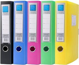 Yardwe Lot de 5 boîtes de classement classiques colorées en plastique pour la maison, l'école, le bureau (couleurs assorties)