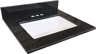 Design House 563213 GRANITE VANITY TOP, Black Pearl