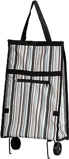 アビテ(Habiter) レイユール ショッピングカート 青縞 32×14×59cm