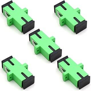 TEZONG SC Coupler Fiber Patch Adapter SC/APC to SC/APC Singlemode Fiber Optic Connector 5 Pack