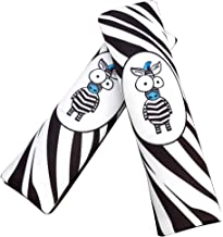 Echaprey 2 Pack Cotton Safety Seat Belt Cover Cartoon Animals Seat Belt Shoulder Strap Cover for Kid and Adults Suitable for Car Seat Belt (Zebra)