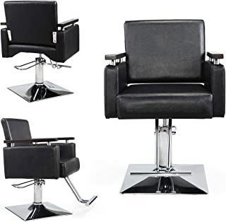JAXPETY Hydraulic Barber Chair Wide Styling Salon Chair All Purpose Beauty Equipment
