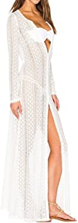 Women's Long Lace Swimsuit Bikini Cover up Maxi Beach Dress Bathing Suit
