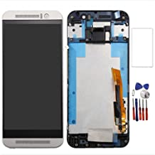 New LCD Display Touch Digitizer Screen Replacement Assembly with Frame for HTC One M9 M9U M9W (Silver)