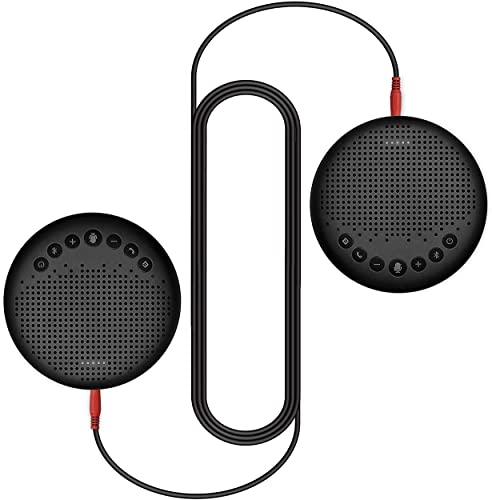 new arrival Luna Speakerphone+Daisy Chain Cable - Luna Computer Speaker with Microphone 2pcs w/Cable, Conference Microphone for Home Office & Meeting up to 12 discount People, Speakerphone Idea for Business Gift lowest Black online sale