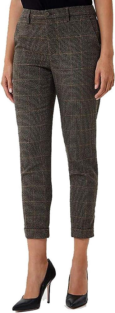 Liujo jeans, pantalone color  caffe`,taglia 40,63% poliestere, 33% viscosa, 2% elastan, 2% metal WF0463 T4523