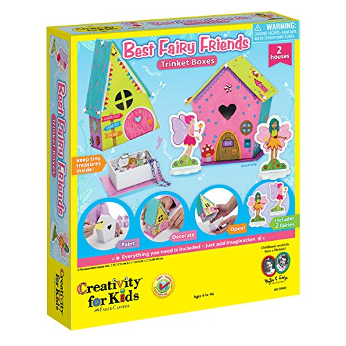 Creativity for Kids Best Fairy Friends Trinket Boxes, Multi