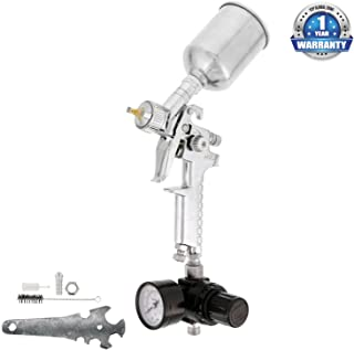 TCP Global Mini Touch-Up HVLP Spray Gun with 1.2mm Fluid Tip and Regulator