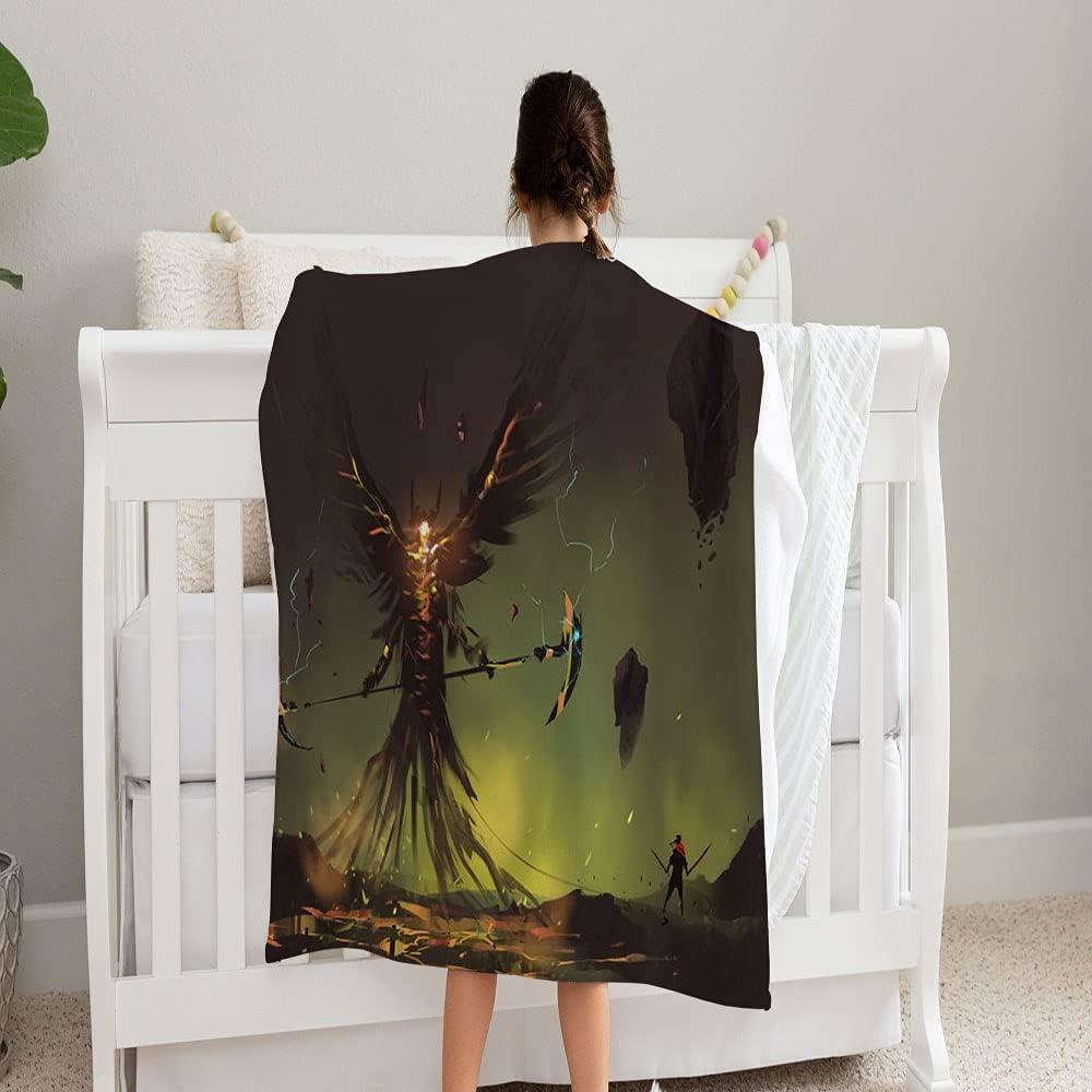LPVLUX Digital Painting Design Style San Antonio Mall Max 73% OFF Worrior Super Blanket Soft