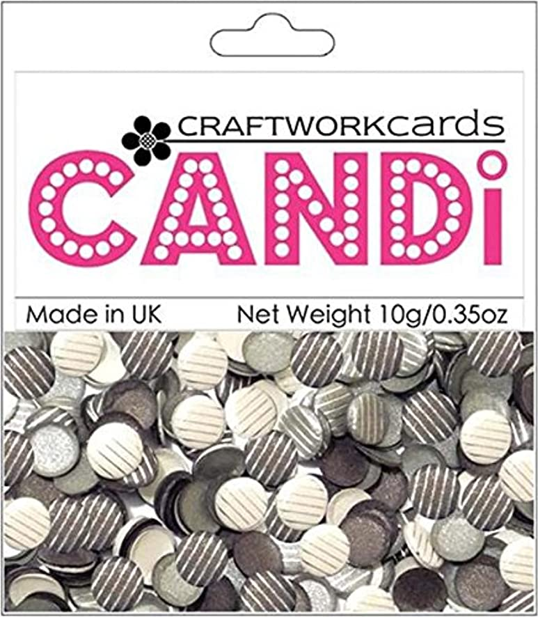 Craftwork Cards Candi Dot Printed Embellishments, 0.35-Ounce, Saville Row