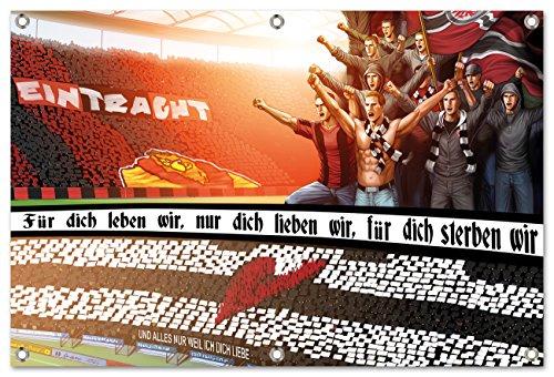 Ultras-Art Frankfurtfür Dich Leben wir Bild auf PVC Plane/PVC Banner inkl Ösen, Maße: 100x75 cm
