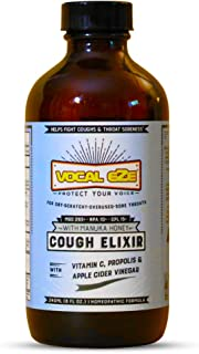 Vocal Eze Manuka Honey Elixir | Natural Cough Syrup | Relieve Dry Cough, Hoarseness and Sore Throat - Immune System Booste...