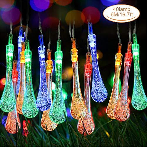 Cadena de Luces, Zorara Guirnalda Luces 6M 40 LED, Guirnalda Luces Pilas Luces Decoración Interior, Jardines, Casas, Boda, Fiesta de Navidad [Clase de eficiencia energética A+++] (Multicolor)