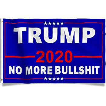 Amazon Com Kaiyuan Dynasty Donald Trump Flag 2020 Blue Trump Fans Flag With Red Slogan Bright Double Stitched President Banner 3 X 5 Feet With Brass Grommets Garden Outdoor